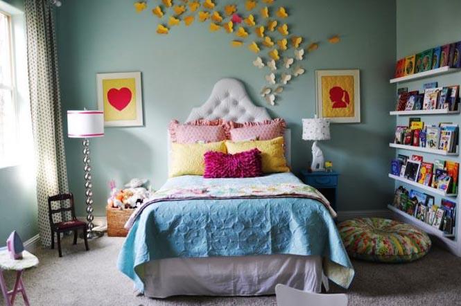 Фото спальни в оттенках голубого