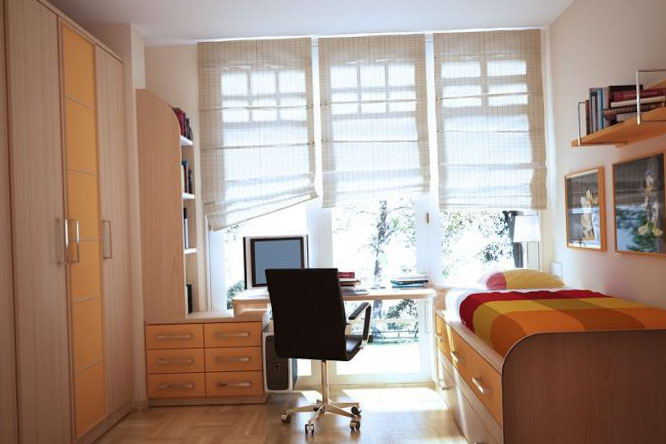 Фото спальной комнаты маленького размера