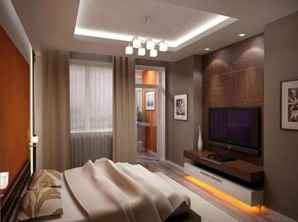 Если спальня с балконом 3