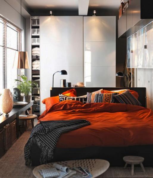 Интерьер спальни маленького размера - фото 1