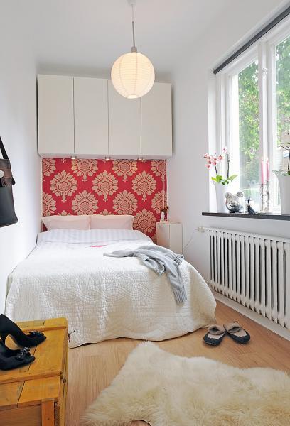 Интерьер спальни маленького размера - фото 3