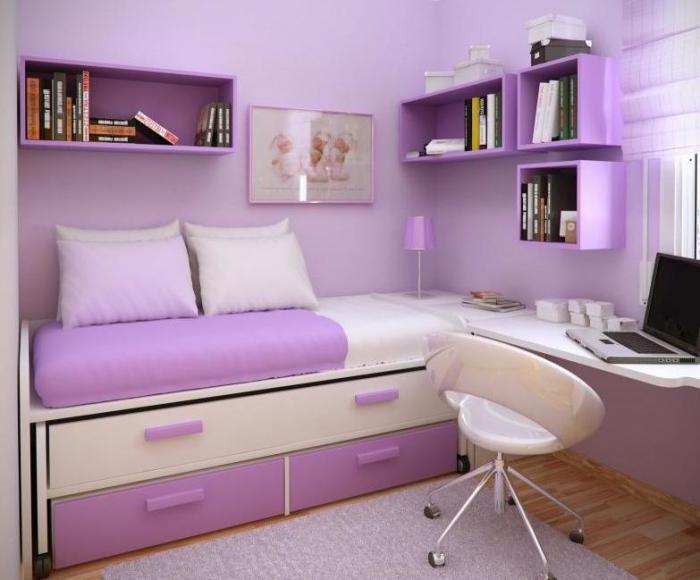 Интерьер спальни маленького размера - фото 7