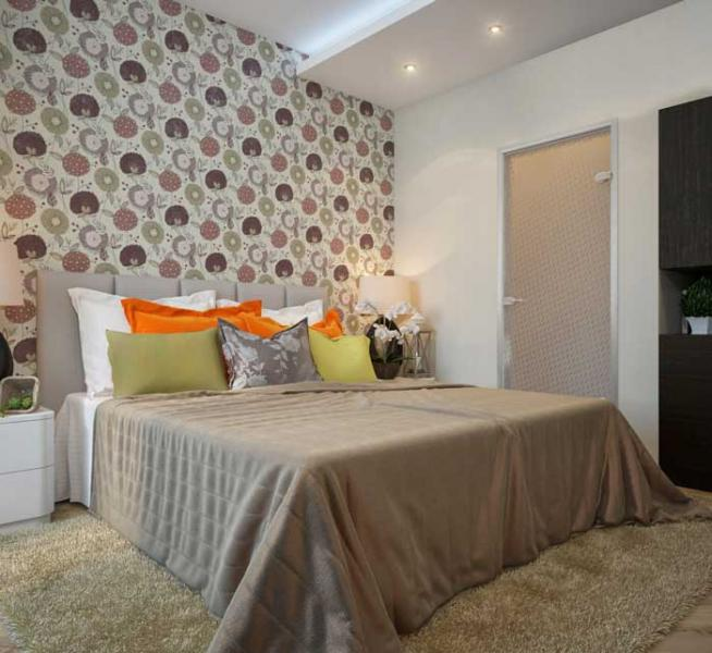 Дизайн маленькой спальни - фото 14