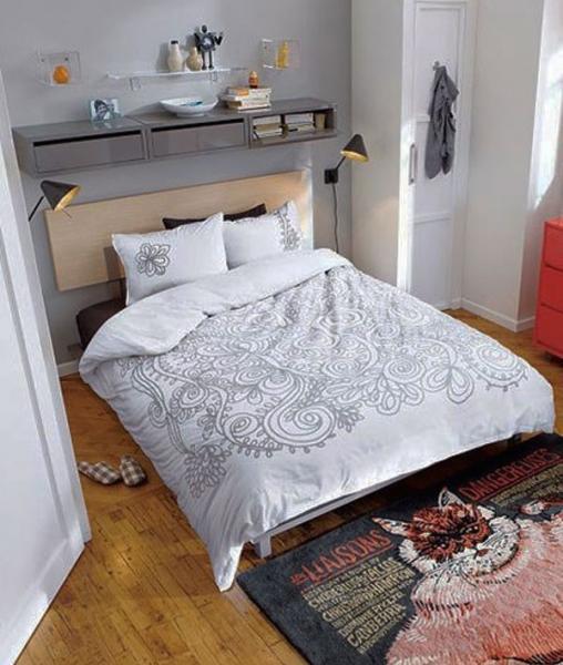 Дизайн спальни маленького размера 11