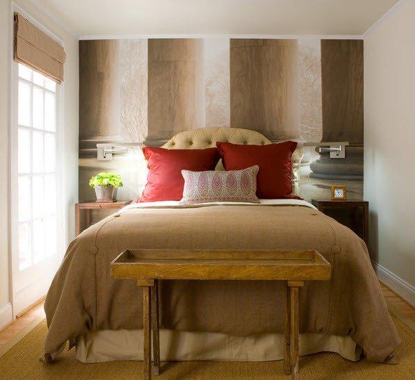 Дизайн спальни маленького размера 15