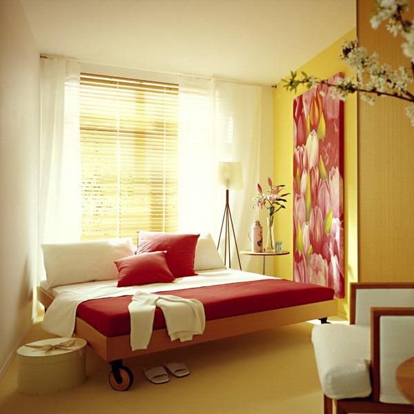 Дизайн спальни маленького размера 16