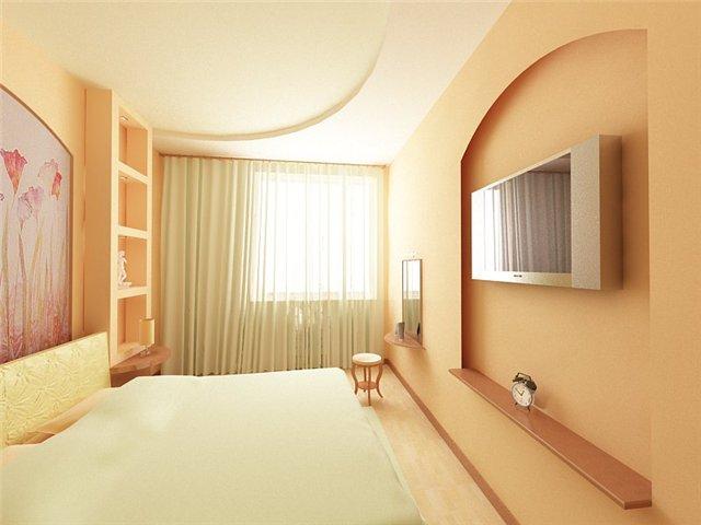 Дизайн спальни маленького размера 17