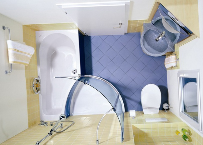 Проект с душевой кабинкой и ванной
