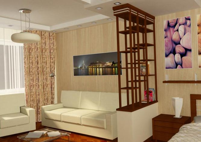 Однокомнатная квартира дизайн 9