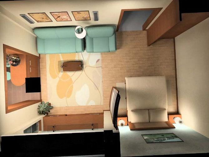 Однокомнатная квартира дизайн 13