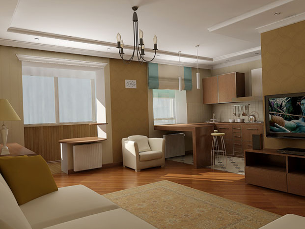 Однокомнатная квартира в хрущевке 1