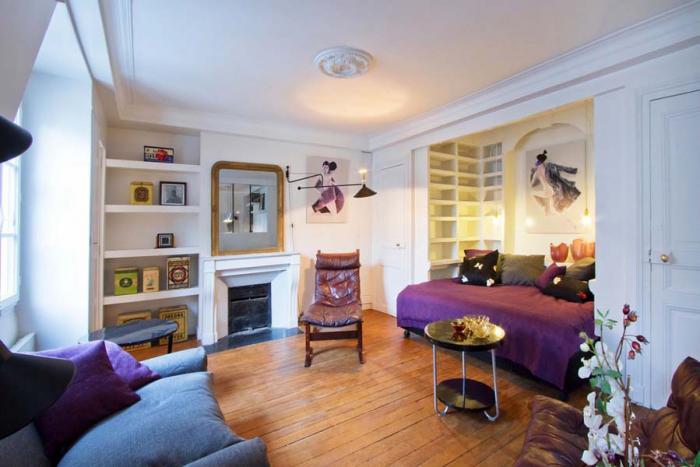 Интерьер типовой однокомнатной квартиры