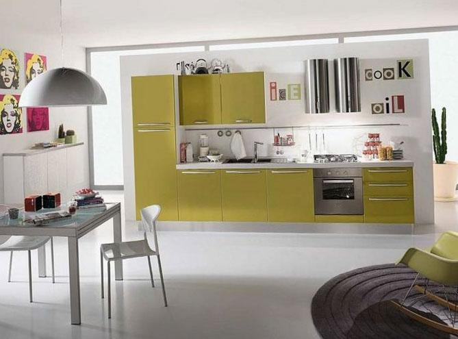 Кухня в однокомнатной квартире 5