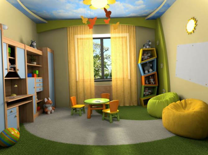 Ceiling design children's room