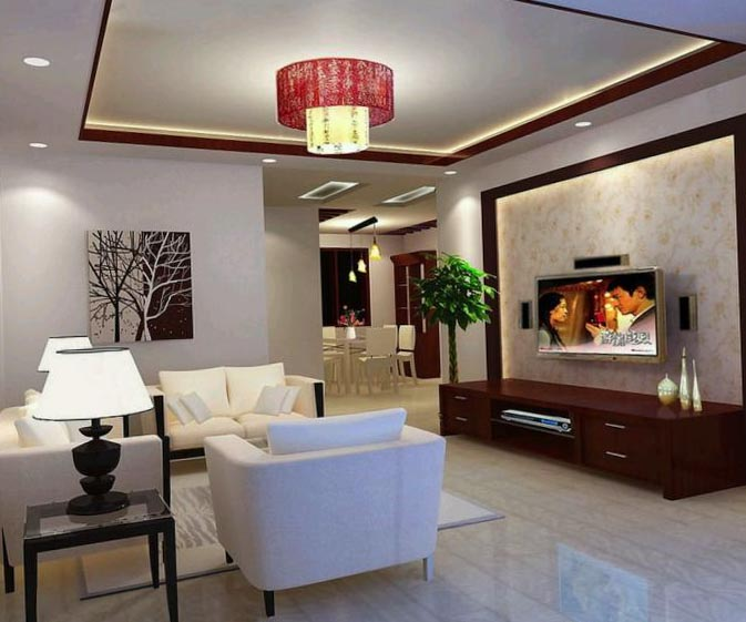 Living room ceiling design