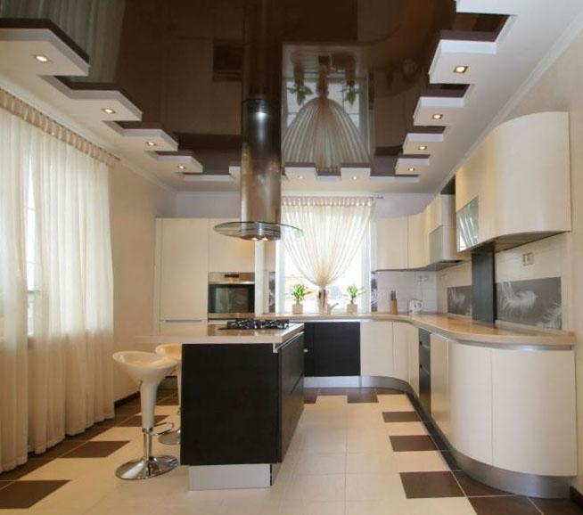 Проекты потолков дизайн для кухни