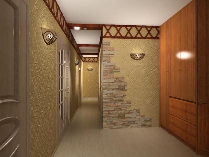 Дизайн обоев в прихожей в квартире фото