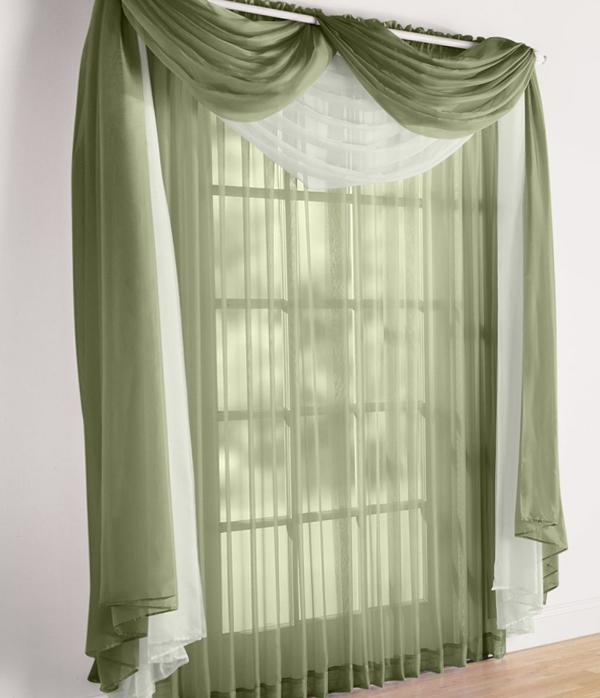 Воздушные шторы для гостиной - 06