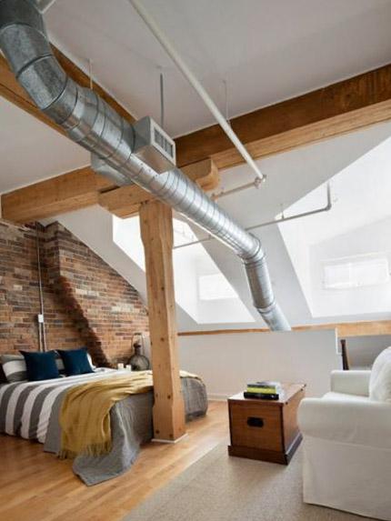 Индустриальный стиль комнаты - 4
