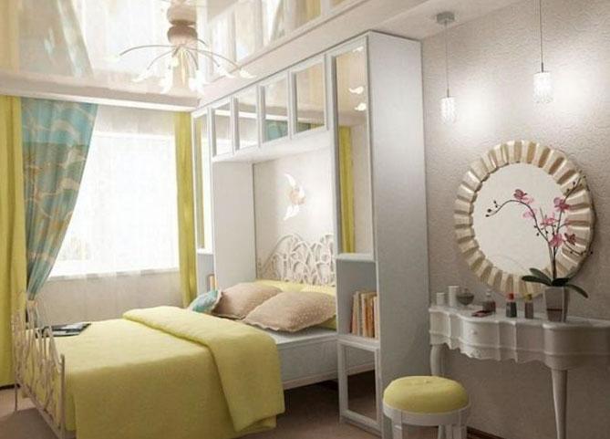 Спальная комната в панельном многоэтажном доме