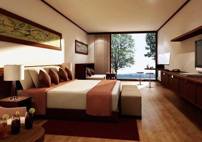 Спальня в частном доме 1