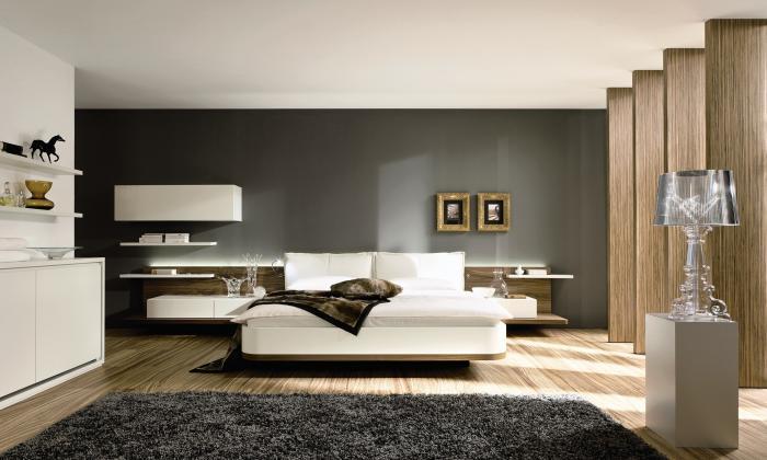 Современный интерьер спальни 6