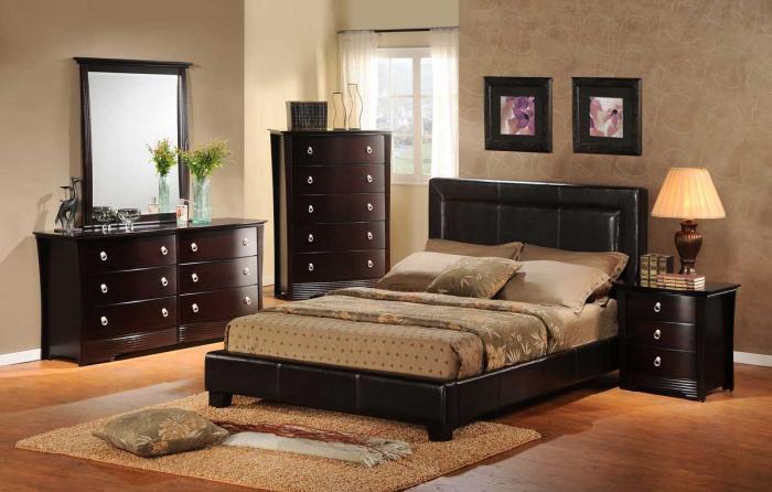 Современный интерьер спальни 8
