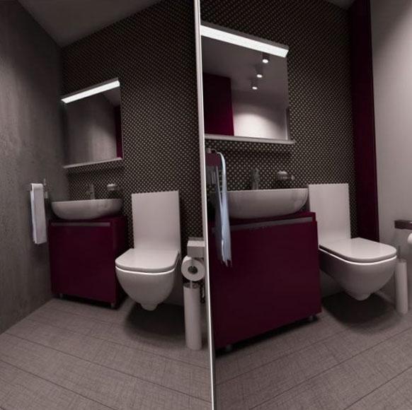 О нюансах дизайна в зависимости от размеров туалета