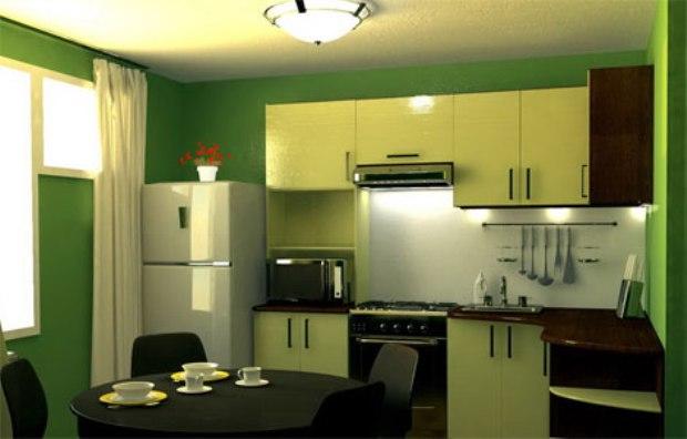Фото угловой кухни 6 кв м
