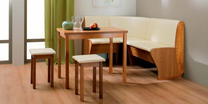 Угловой диван в дизайне кухни