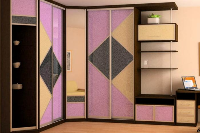 Дизайн угловых шкафов-купе 1
