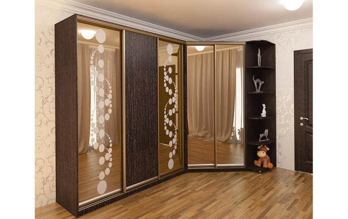 Дизайн угловых шкафов-купе 13