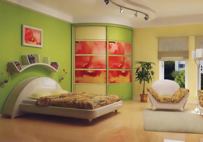 Дизайн угловых шкафов-купе 2