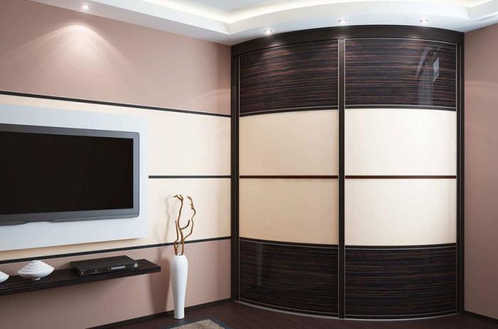 Дизайн угловых шкафов-купе 4