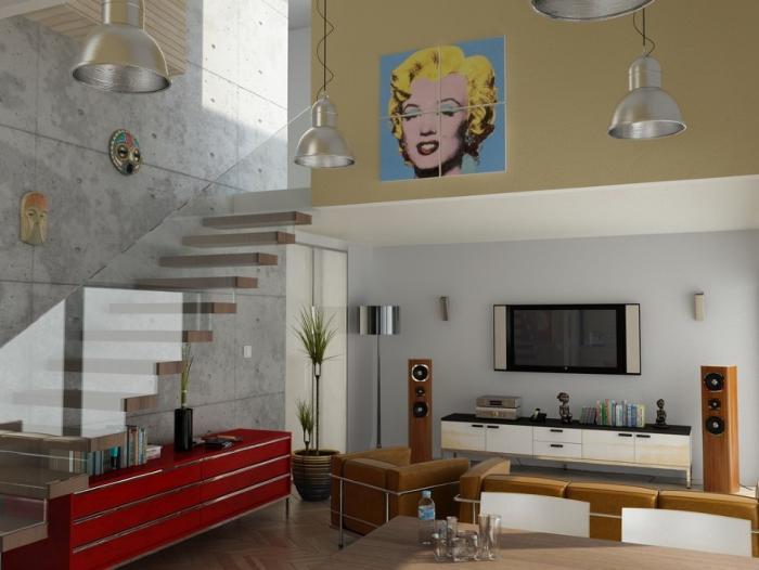 Дизайн загородного дома: зал 2