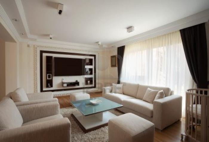 Современный стиль в дизайне зала фото