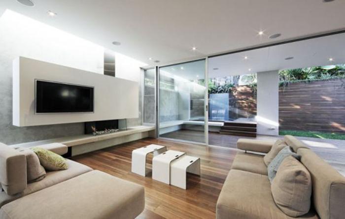 Современный стиль в дизайне зала фото 1