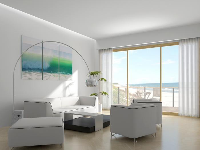 Стиль хай-тек для дизайна зала