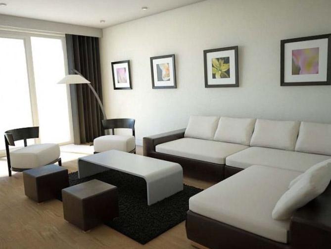 Современный дизайн гостиной 3