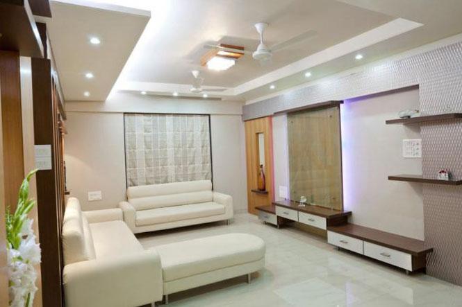 Современный дизайн гостиной 4