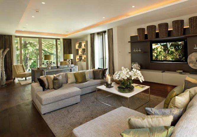 Современный дизайн гостиной 5