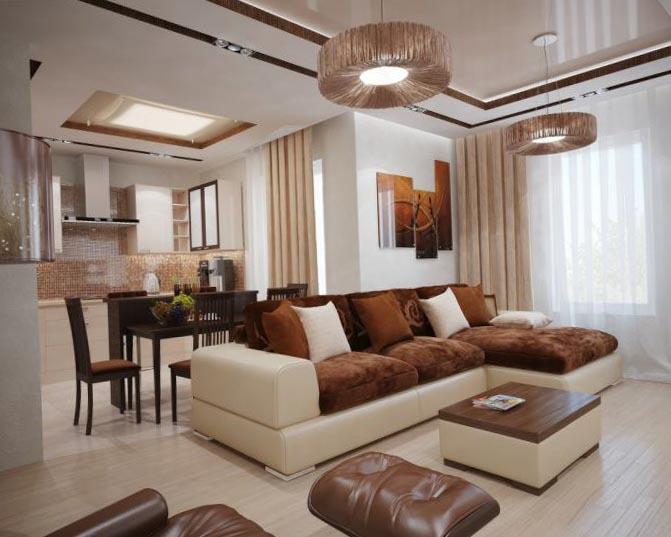 Дизайн интерьера гостиной 3