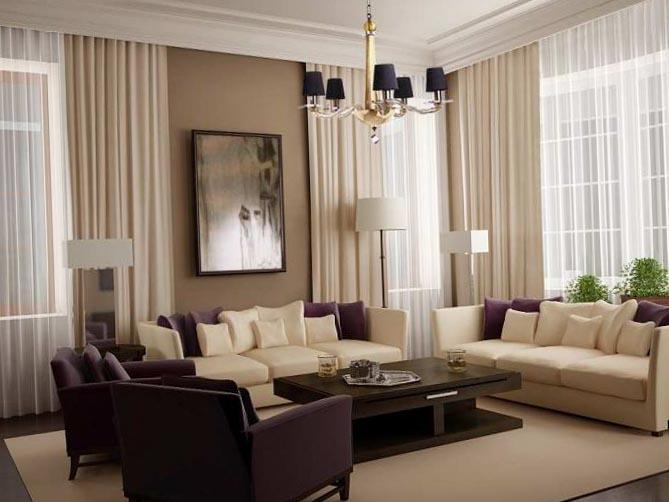Дизайн интерьера гостиной 4