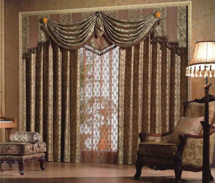 Дизайнерские решения - шторы для гостиной и зала