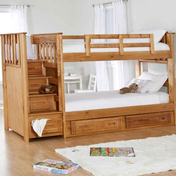 детские кроватки двухъярусные фото