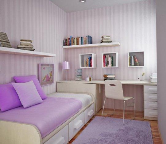 Зона хранения в детской спальне