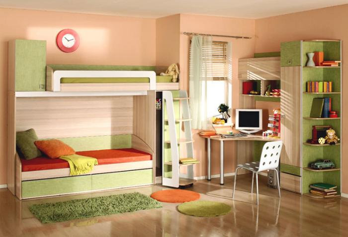 Дизайн детской комнаты для разнополых детей (52 фото) 98