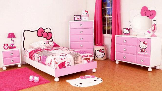 Розовая комната для девочки-подростка