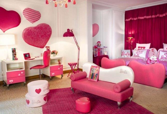 Розовая детская спальня - фото