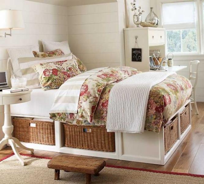 Спальная зона в детской спальне - фото